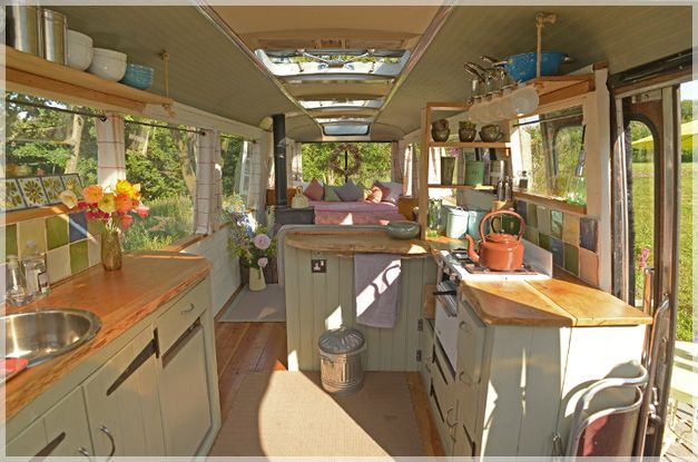 Transforming a Big Yellow School Bus into a Cozy Home