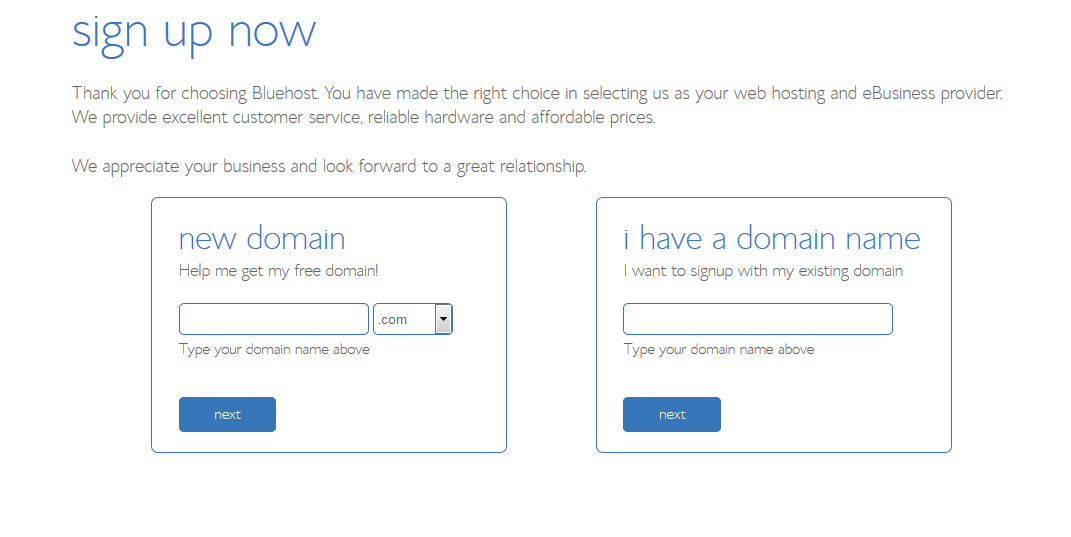 enter domain or purchase domain