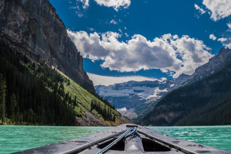 Canoeing at Lake Louise Alberta