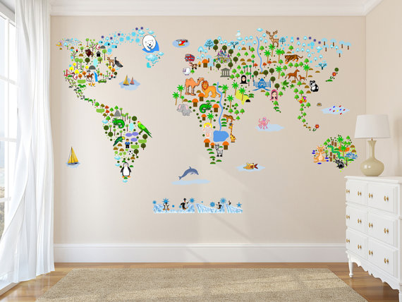 27 ways to create the perfect travel inspired nursery limitless duo you can find any map style your heart desires on etsy similar map on amazon when etsy is not available gumiabroncs Image collections