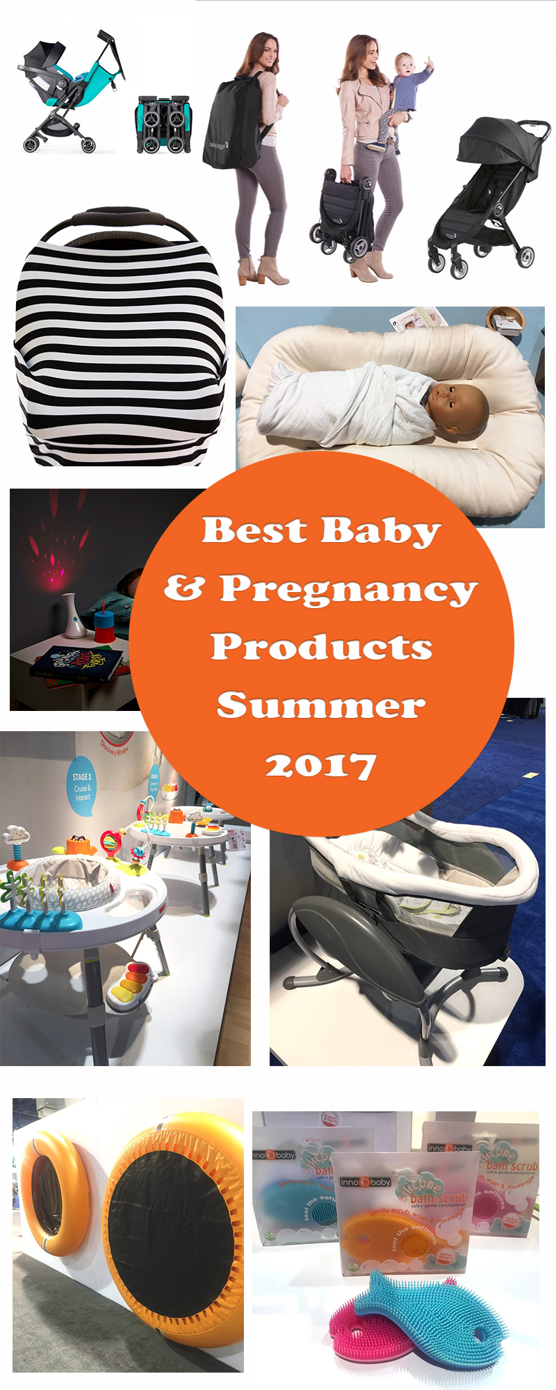 A sneak peek at the best baby and pregnancy products for summer 2017. From breastfeeding 'water wings' to super compact strollers some of this gear will blow your mind.